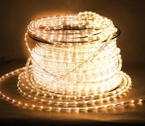Дюралайт светодиодный, двухпроводной, круглый 11 мм, Белый теплый, 36 LED/м, кратность резки 2 метра