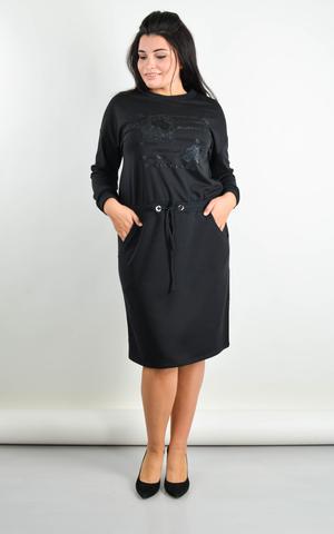Виола. Платье плюс сайз на каждый день. Черный.