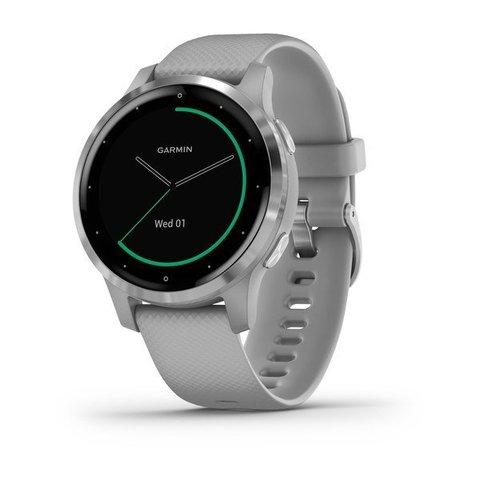 Купить Смарт часы Garmin Vivoactive 4S, серые с серебристым безелем 010-02172-03 по доступной цене