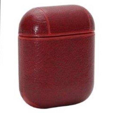 Чехол для Airpods 2 под кожу Protective Case (Красный)