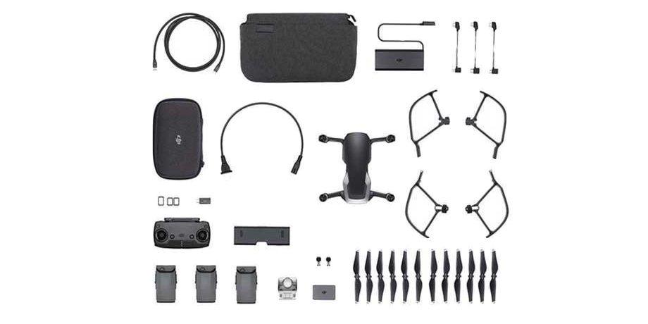 Квадрокоптер DJI MAVIC AIR (EU) Onyx Black комплектация