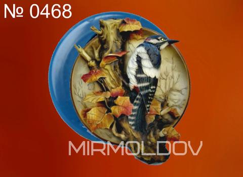 Силиконовый молд  Дятел  (медальон)  № 0468