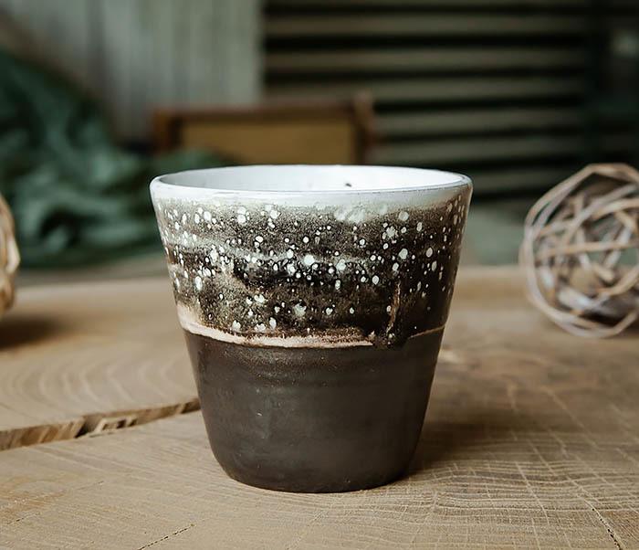 CUP108-1 Небольшой стакан ручной работы, серия «Млечный Путь»