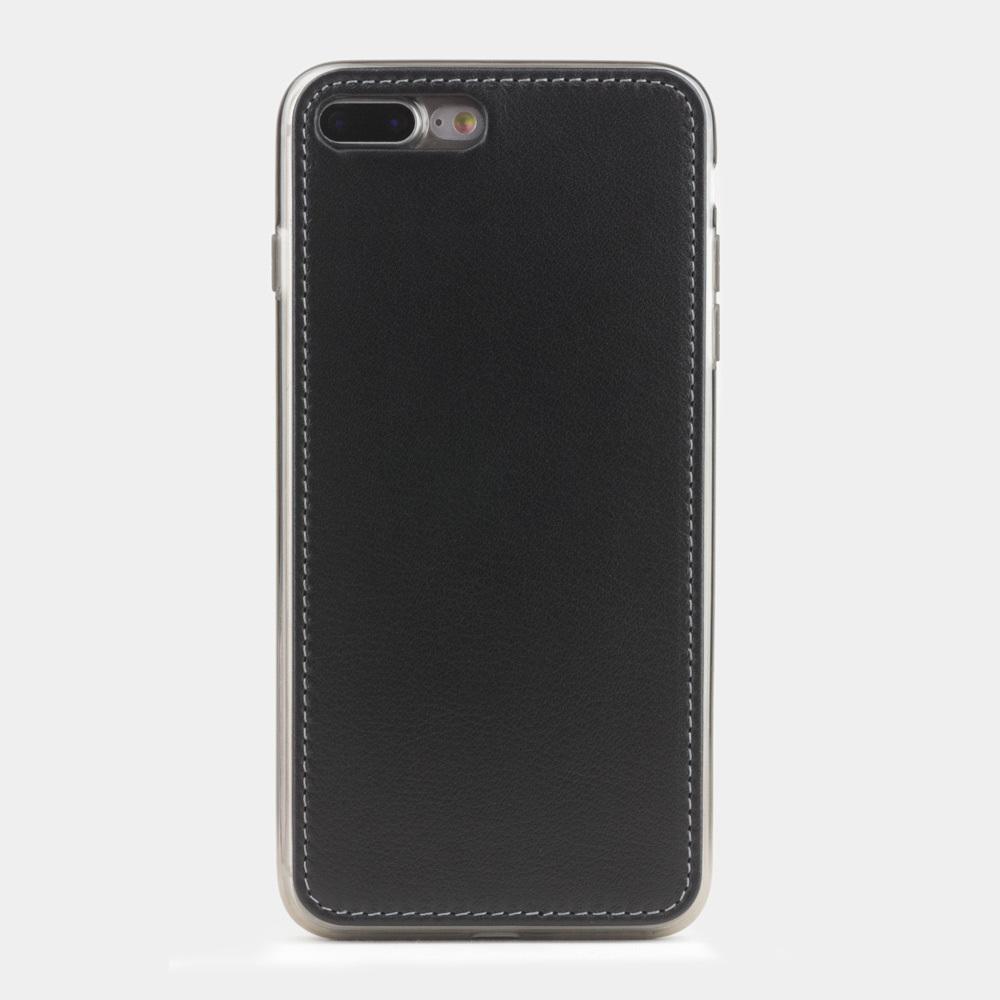 Чехол-накладка для iPhone 7 Plus из натуральной кожи теленка, черного цвета