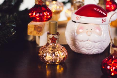 Керамическая конфетница Санта