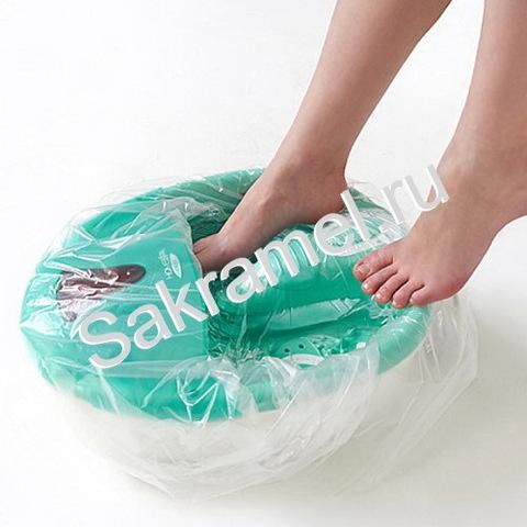 Пакет для педикюрных ванн (Полиэтилен, прозрачный, 50х50+20 см, 100 шт/упк, стандарт)