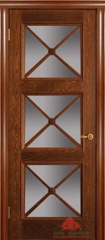 Дверь Двери Белоруссии Адант ПО, цвет натуральный дуб, остекленная