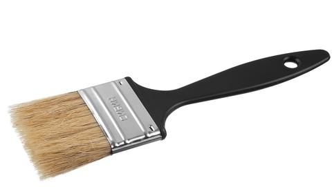 Кисть плоская СИБИН, пластиковая ручка, светлая щетина, 38мм