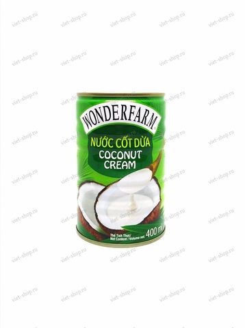 Вьетнамские кокосовые сливки Wonderfarm, 400мл.