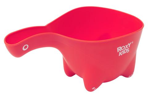 Ковшик для мытья головы Dino Scoop. Цвет коралловый