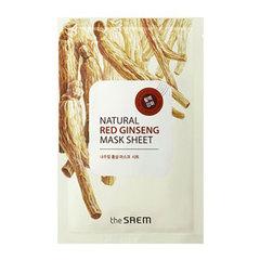 Saem Natural Red Ginseng Mask Sheet  -  Маска тканевая с экстрактом женьшеня