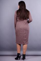 Макси. Женское платье на каждый день больших размеров. Шоколад.