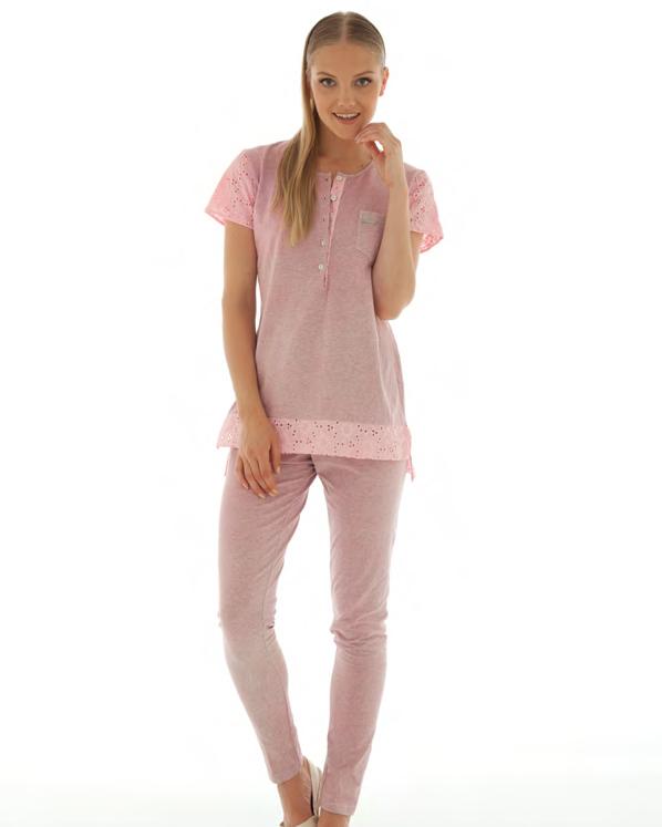 Розовый домашний костюм Rebecca & Bros