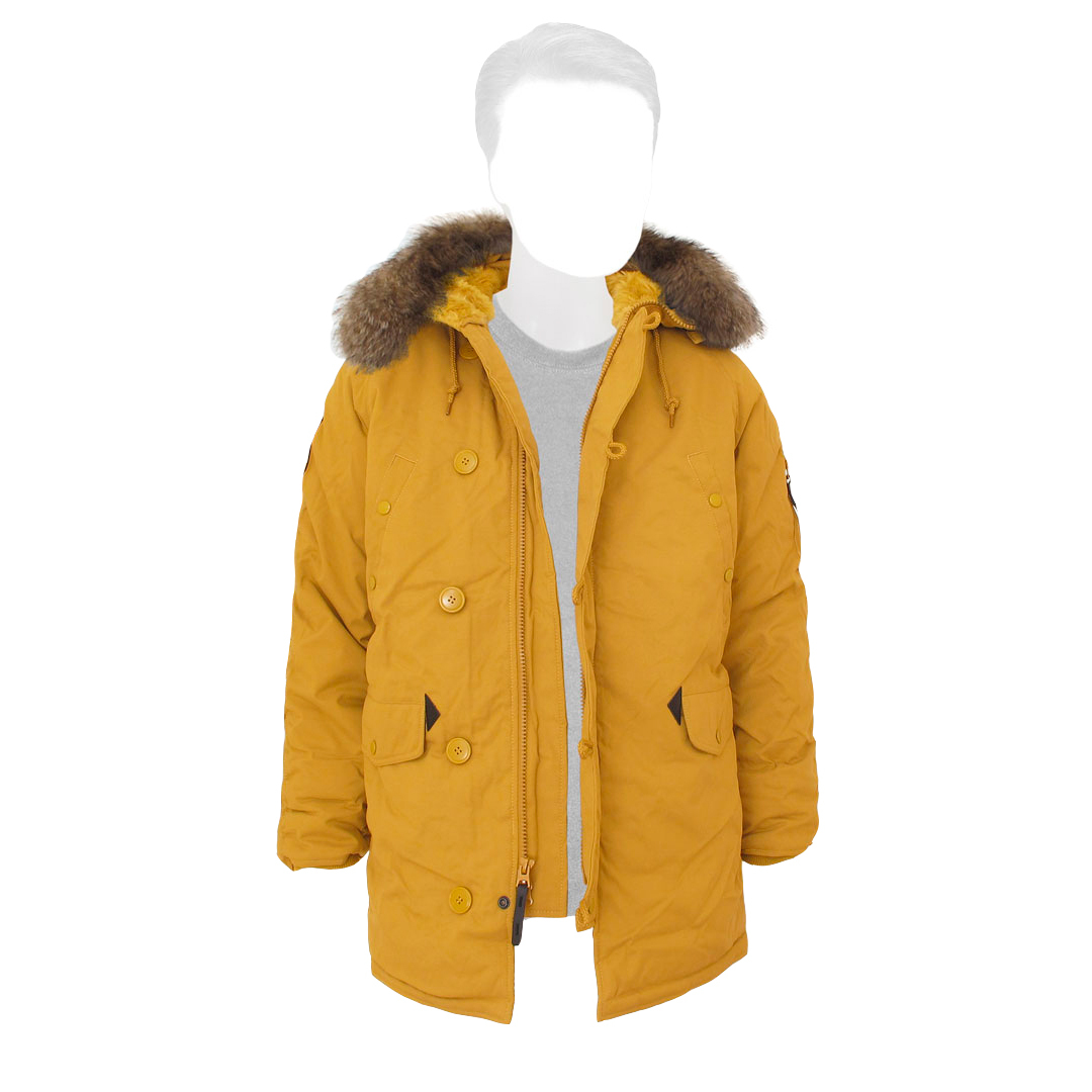 Куртка Аляска Зимняя - Altitude Parka  (горчичный)