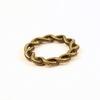 Коннектор - кольцо витое 20 мм (цвет - античная бронза)