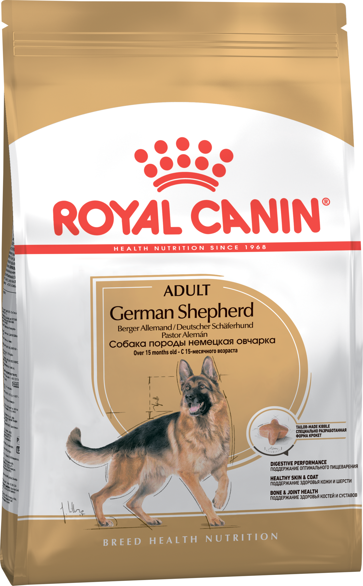 Royal Canin Корм для взрослых собак породы немецкая овчарка, Royal Canin German Shepherd Adult 342030.png