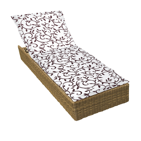Подушка на шезлонг Уикэнд коричневый