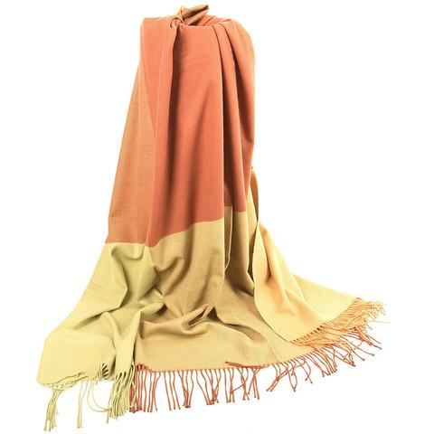 Плед из чистого хлопка оранжевый