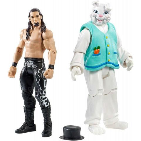 Набор из 2 фигурок Адам Роуз и Кролик (Adam Rose and Bunny) - рестлеры WWE, Mattel