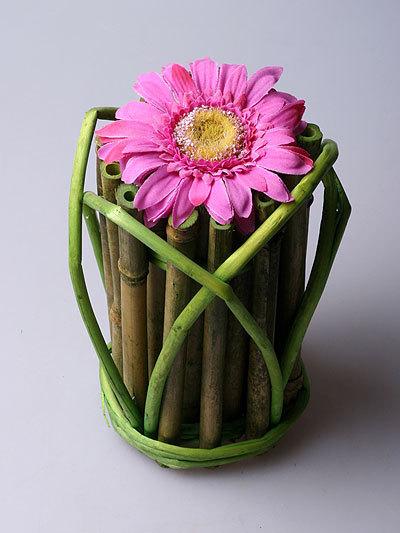 Декоративная ваза из бамбука 8258