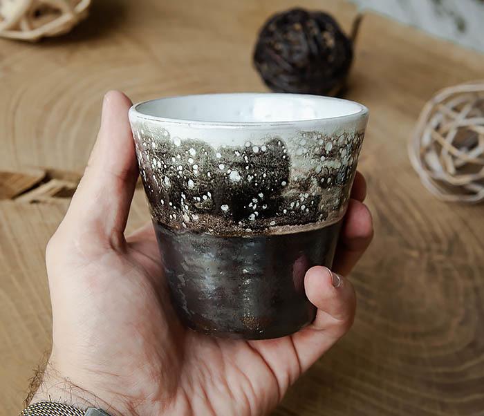 CUP108-1 Небольшой стакан ручной работы, серия «Млечный Путь» фото 06