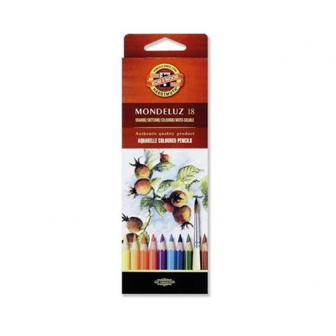 Набор акварельных цветных карандашей Koh-I-Noor 3717 Mondeluz в картонной коробке, 18 цветов