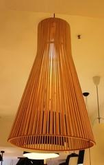 светильник копия  Secto 4201 pendant 45 cm   natural colour