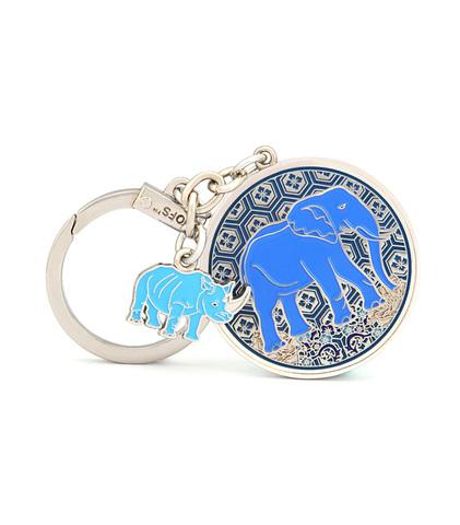 Брелок Синий носорог & слон