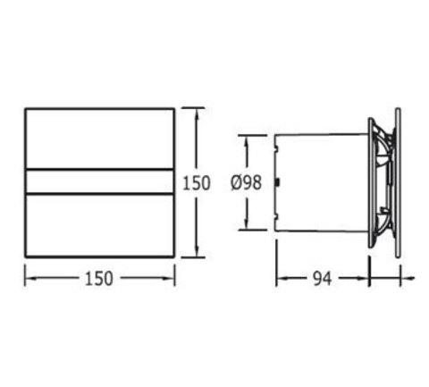 Накладной вентилятор Cata E 100 G + обратный клапан