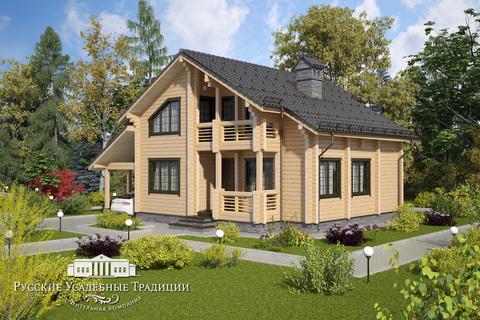 """Проект двухэтажного дома """"Карелия"""" 195 кв.м."""