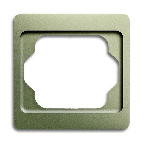 Рамка на 1 пост. Цвет Палладий. ABB(АББ). Alpha Exclusive(Альфа Эксклюзив). 1754-0-4520