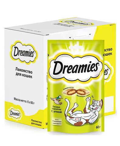 Dreamies лакомство для взрослых кошек с уткой 60 г
