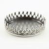 Сеттинг - основа для камеи или кабошона с зубчатым краем 26 мм (оксид серебра)