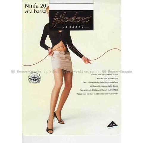 Женские колготки Ninfa 20 Vita Bassa Filodoro
