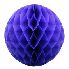 Бумажное украшение шар 20 см сиреневый