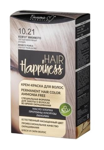 Белита-М Hair Happiness Крем краска для волос №10.21 Жемчуг Микимото Св.жемчуж.блондин