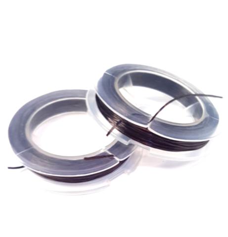 Спандекс - силиконовая нить, без оплетки 0,6 мм темно-коричневый