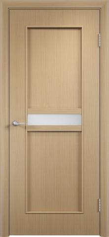 Дверь Верда C-3, цвет беленый дуб, остекленная