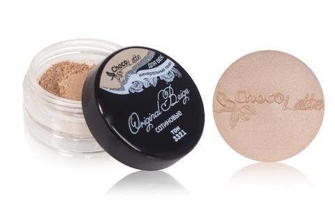 Для макияжа7: Тени минеральные для век тон 3321 Original Beige/ сатиновые, TM ChocoLatte, 3 мл/1,2гр