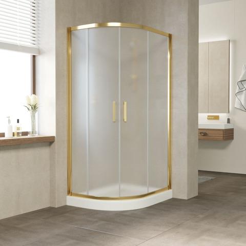 Душевой уголок Vegas Glass ZS-F профиль золото, стекло сатин