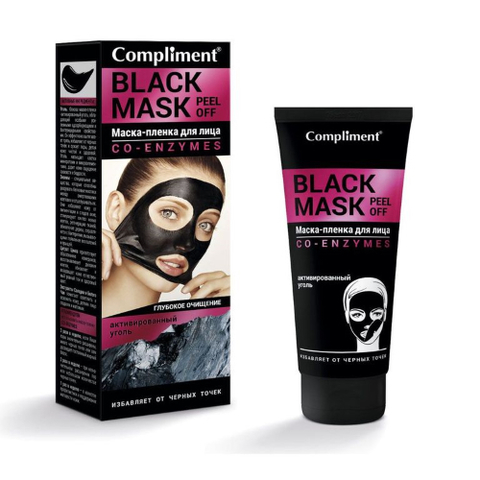Compliment Black mask Маска-пленка для лица Co-Enzymes 80 мл