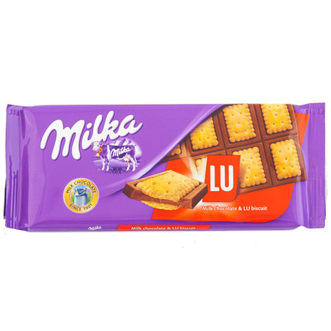 """Шоколад """"Milka"""" молочный с печеньем """"Lu"""", 87 г"""