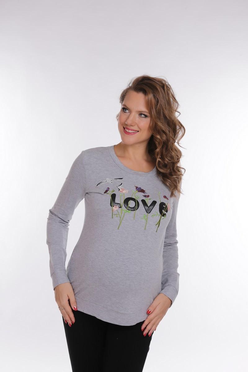 Джемпер для беременных 09074 серый