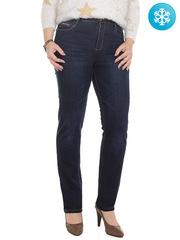 1040 джинсы женские утепленные, синие