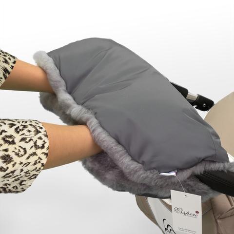 Муфта Esspero Solana для рук на коляску (Натуральная шерсть)