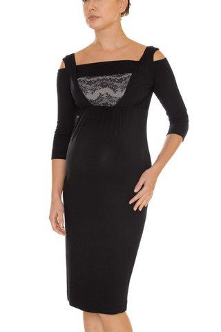 Платье для беременных 05387 черный