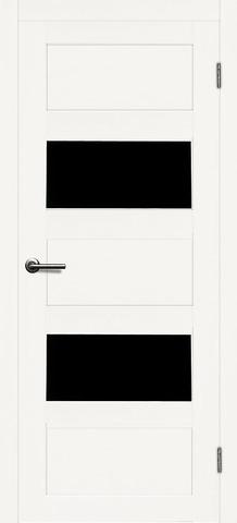 > Экошпон Матадор Деметра, стекло чёрное, цвет белое дерево, остекленная