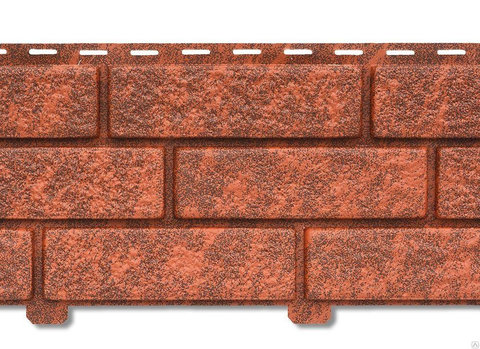 Сайдинг ПВХ Кирпич Красный Ю-Пласт Стоун-Хаус 0,23х3,025м (6,95м2)