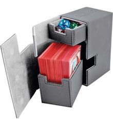 Ultimate Guard - Кожаная серая коробочка с отделением для кубиков