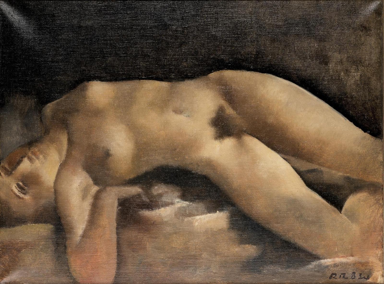 Рудольф-Теофил Босхард. 1934. Большая обнаженная (Grand nu couche). 46 х 61. Холст, масло. Частное собрание.